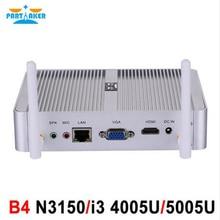 Intel 4 К безвентиляторный I3 4005U N3150 мини-ПК с VGA HDMI Gigabit LAN причастником B4 HTPC