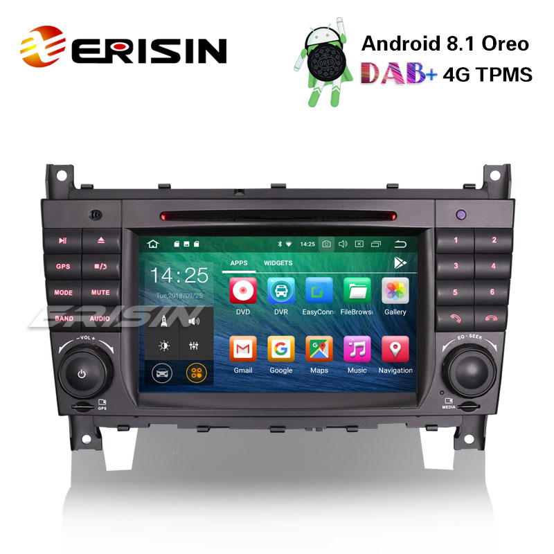 erisin es3869c 7 android 8 1 car stereo gps satnav dvd cd. Black Bedroom Furniture Sets. Home Design Ideas