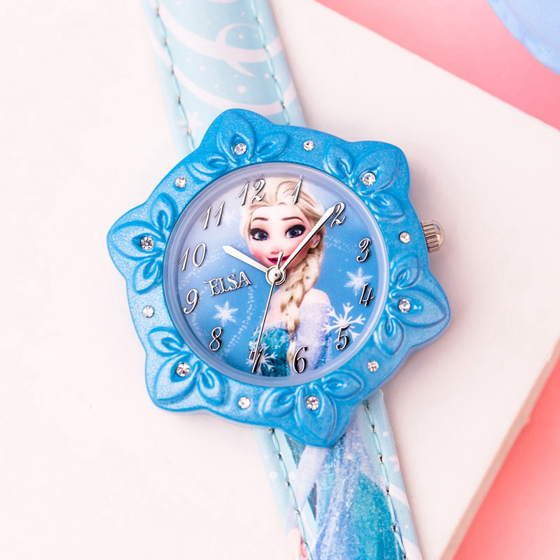 Disney Frozen Princess Original Design Children Girls Watch Packing With Gift Box Brand Cute Kids Watch Dropshipping Fz-54155 Structural Disabilities Watches