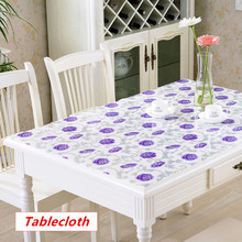 Table cloth Waterproof PVC soft glass plastic Flower Oil-proof tablecloth party table decoration non-slip coffee table mat  pad europe luxury party tablecloth non slip waterproof table cloth oil proof pvc soft glass plastic table cover coffee table mat