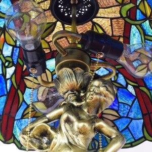 Image 3 - American style winogrona Tiffany kolor szklana lampa stołowa do salonu bar jadalnia sypialnia lampa stolik nocny