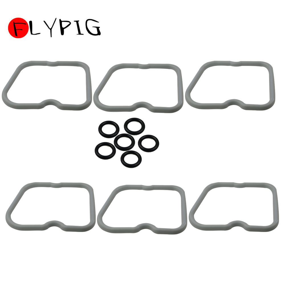 New Set Of 6 Valve Cover Gaskets 3902666 For Dodge Cummins 12 V 5.9L 12V 6BT 5.9