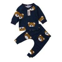 Одежда для новорожденных и маленьких мальчиков футболка с капюшоном + длинные штаны комплект домашней детской одежды с длинными рукавами и...