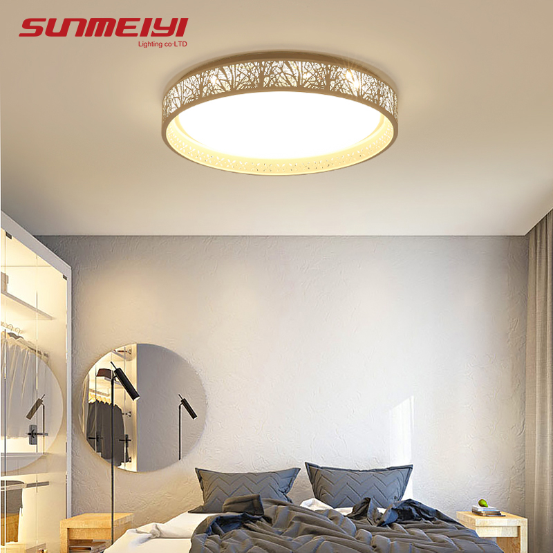 Dimmable LED Ceiling Lights Fixture Modern Slim Luminaire Plafonnier For Living Room Kitchen Bedroom Indoor Ceiling