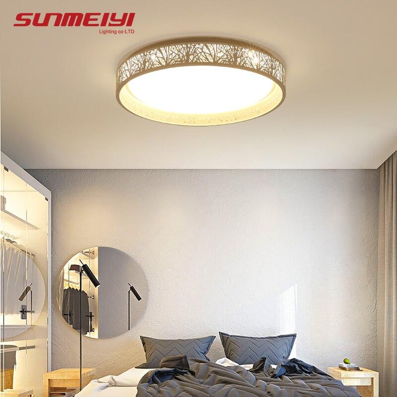 調光対応ledシーリングライト照明器具現代スリム照明器具plafonnier用リビングルーム台所寝室屋内天井ランプ  グループ上の ライト & 照明 からの シーリングライト の中 1