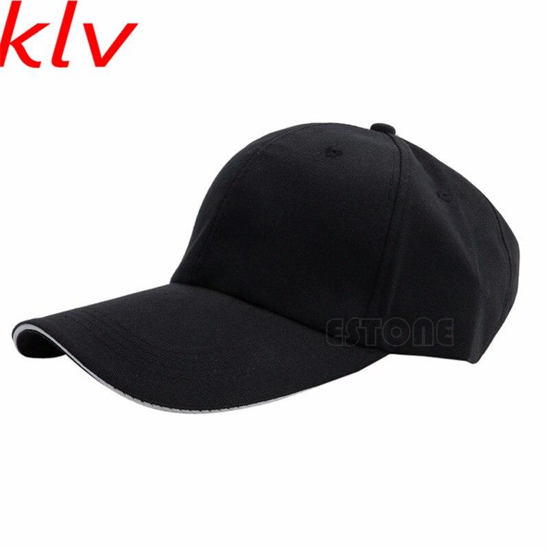 8ae260c0fb909 KLV Unisex Men Women Baseball Cap Blank Plain Solid Curved Visor Sun Ball  Hat 10 Colors
