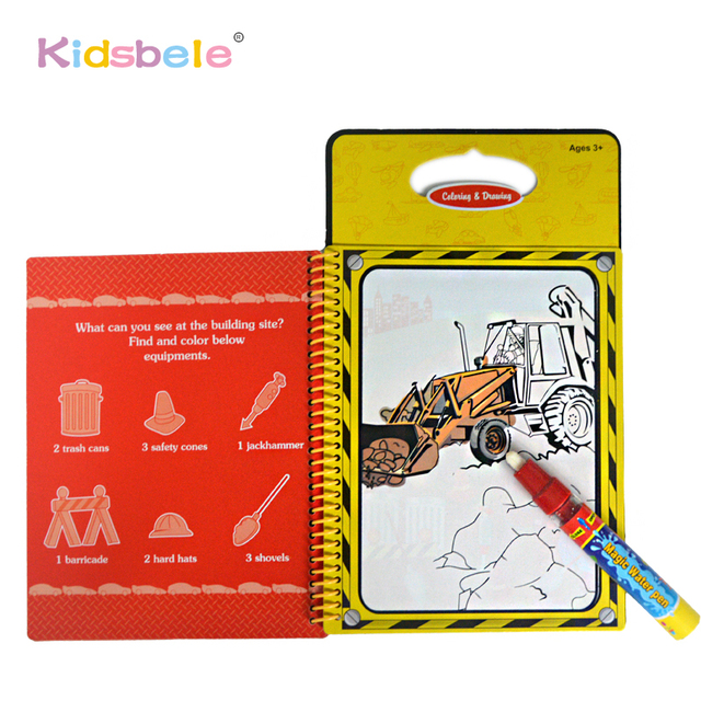 drawing toys magic water coloring book for kids painting learning education aquadoodle pen painting board juguetes - Water Coloring Book