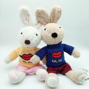 Милый кролик зайка, плюшевые куклы со сменной одеждой, мягкие игрушки для детей, для девочек, детские игрушки, подарки на новый год