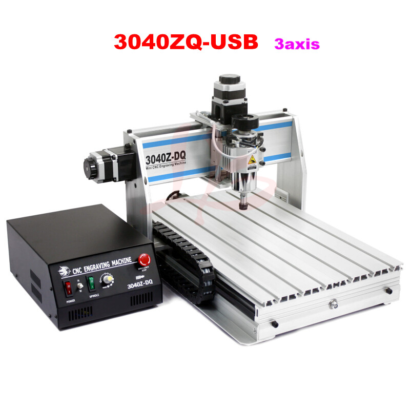 300W PCB Milling machine CNC 3040  DIY CNC  Machine with USB Port, ball screw 3axis 2200w spindle cnc milling machine 8060 with usb port and ball screw for cnc wood engrave