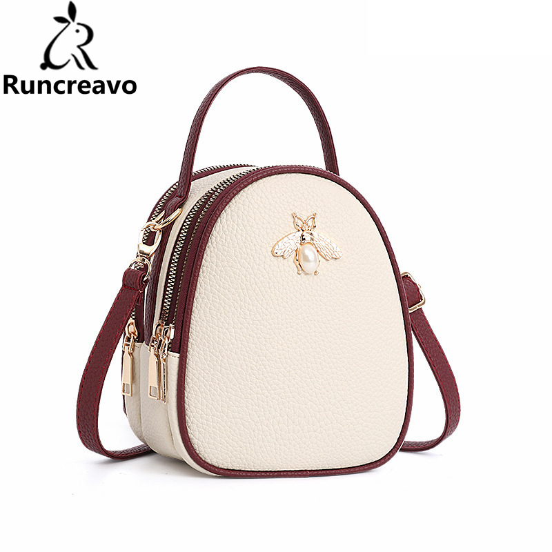 2018 Shoulder Crossbody Bags For Women Leather Luxury Handbags Women Bags Designer Bee Summer Small Ladies Hand Bags Sac A Main