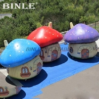Attractive newest inflatable mushroom house inflatable mushroom tent for kids party event decoration