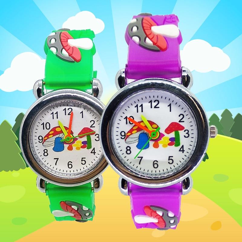 Wholesale Watch Child Gift Boys And Girls Clock Children Watch Mushroom Pattern School Students Quartz Sports Kids Watches