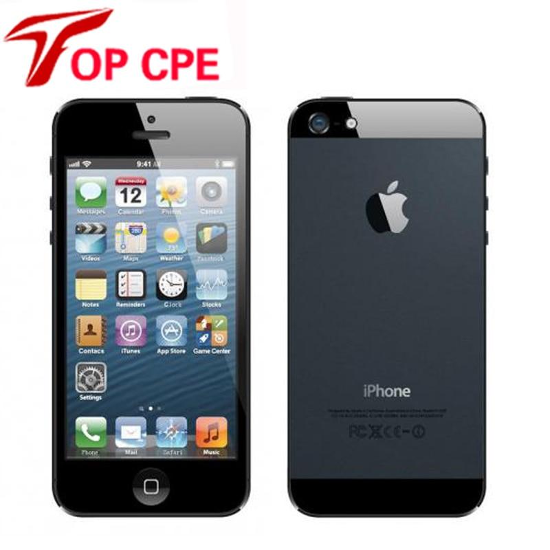 Unlocked Original Apple iPhone 5 16GB 32GB 64GB ROM Mobile phone Dual core 1G RAM 4