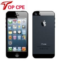 Разблокирована оригинальный Apple IPhone 5 16 ГБ/32 ГБ/64 ГБ Встроенная память мобильный телефон dual-core 1 г Оперативная память 4.0 «WI-FI GPS IOS OS 3 г 8MP камера смартфона
