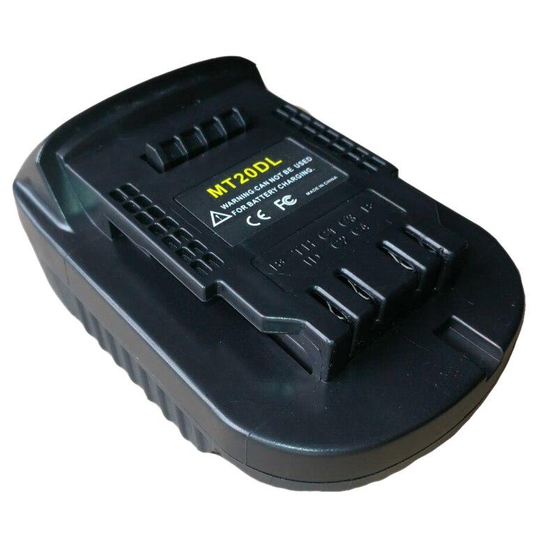 Mt20Dl Battery Adapter For Makita 18V Bl1830 Bl1860 Bl1815 Li-Ion Battery For Dewalt 18V 20V Dcb200 Li-Ion Battery