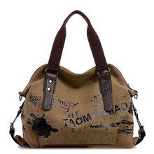 Leinwand Umhängetaschen Casual Style Für Frauen Handtaschen Vintage Einkaufstasche Beliebte graffiti Gute Qualität Trendy Schultertasche F40-688