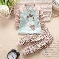 2016 Nuevo Bebé Recién Nacido Ropa Conjuntos conjuntos niños ropa de algodón muchachas de la ropa del bebé trajes de ropa de algodón para niños
