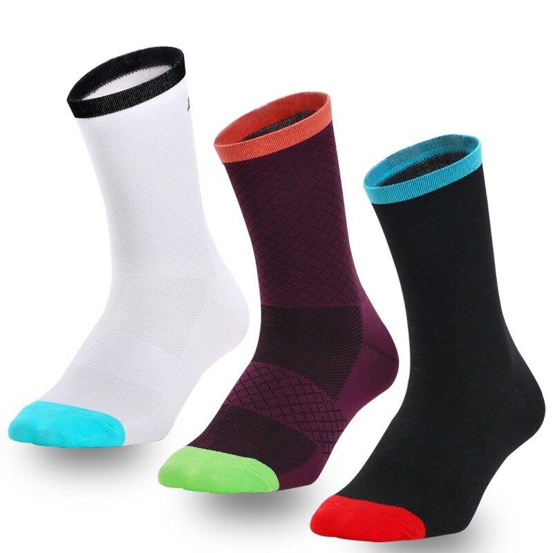 <+>  1 пара Износостойкие носки для кемпинга Велоспорт Йога Бег Носки Сжатие Спортивные носки Тонкие езда ①