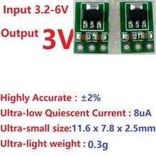 Placa reguladora de voltagem, 2x3.3-6v para 3v DC-DC fonte de alimentação invertida baterias secas do aaa do íon de lítio para 18650