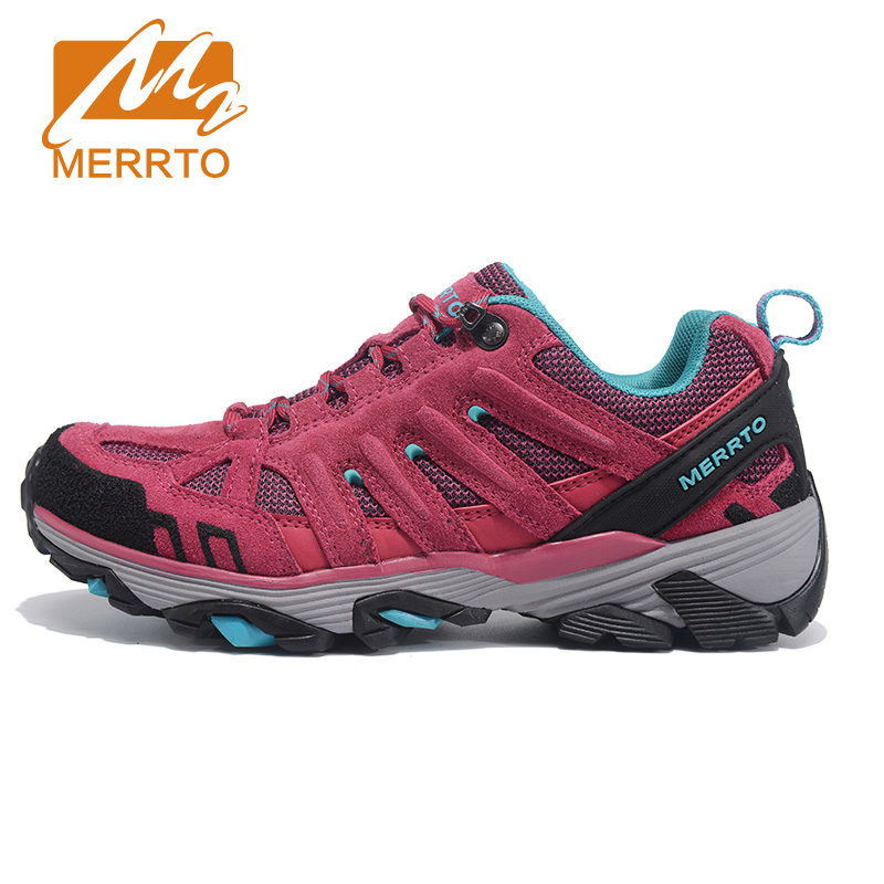 MERRTO Women's Leather Sports Outdoor Hiking Trekking Shoes Sneakers For Women Wearable Climbing Mountain Shoes Woman Sneaker humtto women s leather outdoor hiking trekking sneakers shoes for women purple sports climbing mountain shoes woman sneaker