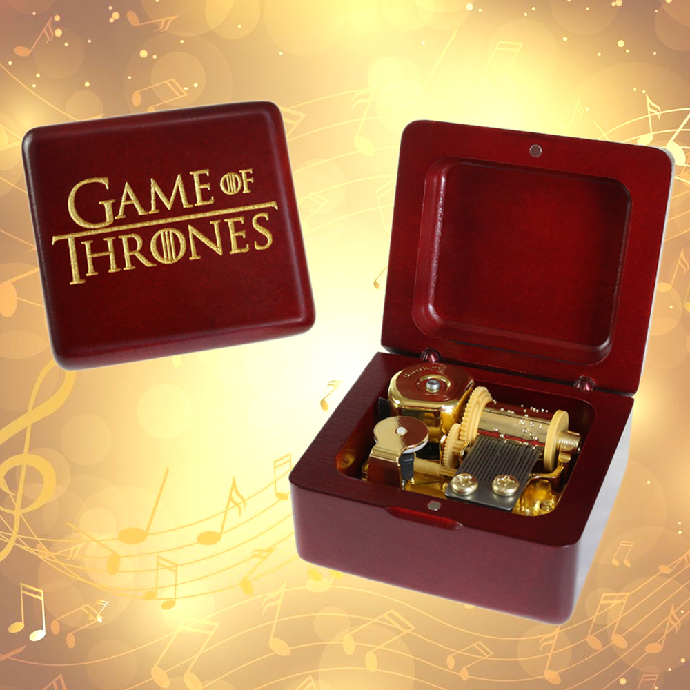 Beech Wood Wind Up Music Box GAME OF THRONES