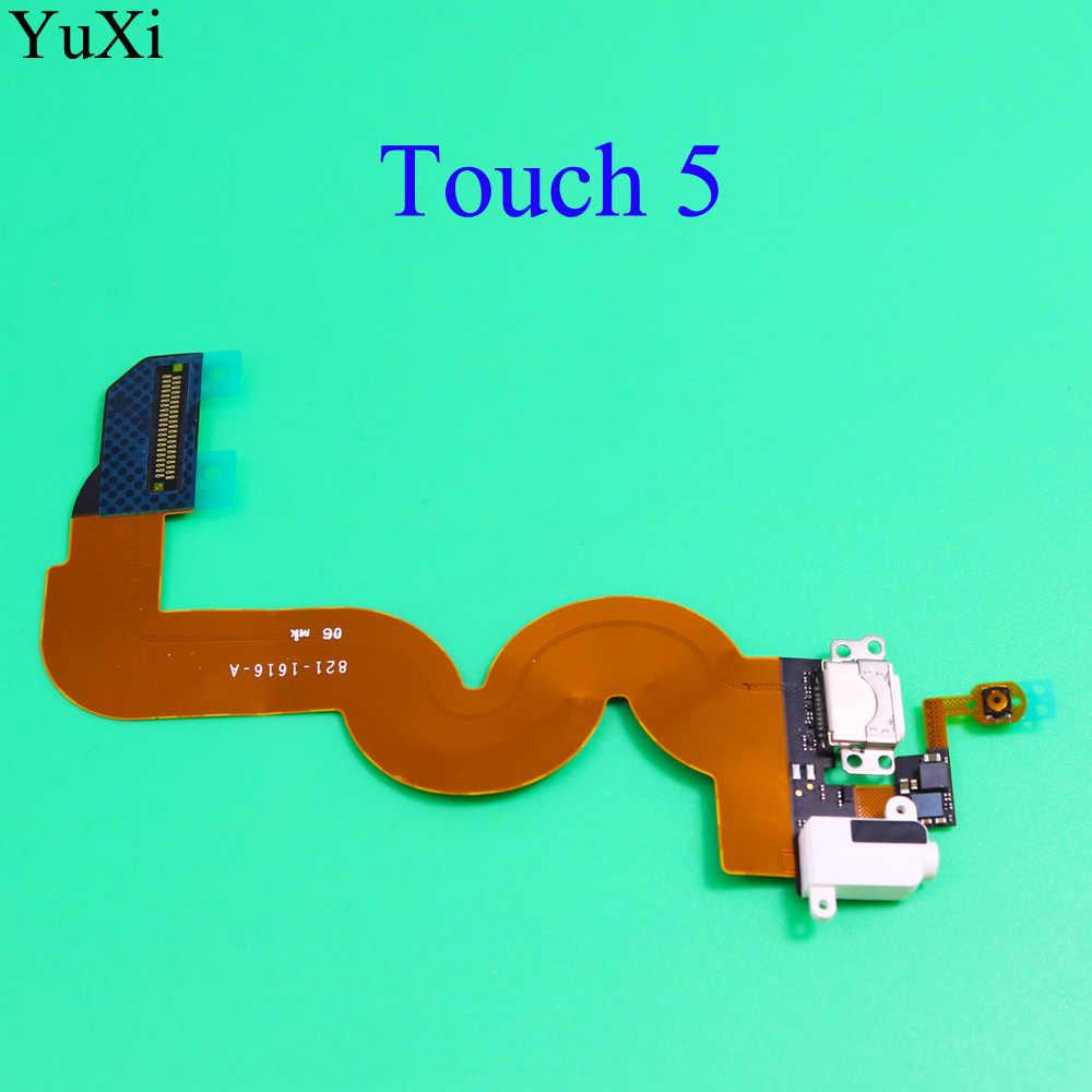 YuXi nowy dotykowy 5 ładowarka USB stacja do ładowania Audio portu gniazdo słuchawkowe Flex dla ipoda Touch5 5th Gen przycisk Home Flex kabel