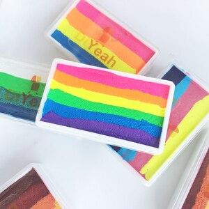 Image 3 - DiYeah 11 色虹ボディフェイスメイク塗装顔料 30 グラムボディーアートハロウィンネオン UV メタリック分割ケーキプロ