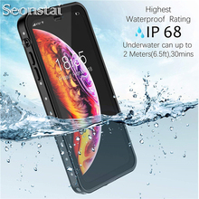 360 Sealed IP68 Waterproof Case for iPhone Xs Max Xs Xr Case Underwater Diving Outdoor Sport Snowproof Cover for SamsungS9 Note9