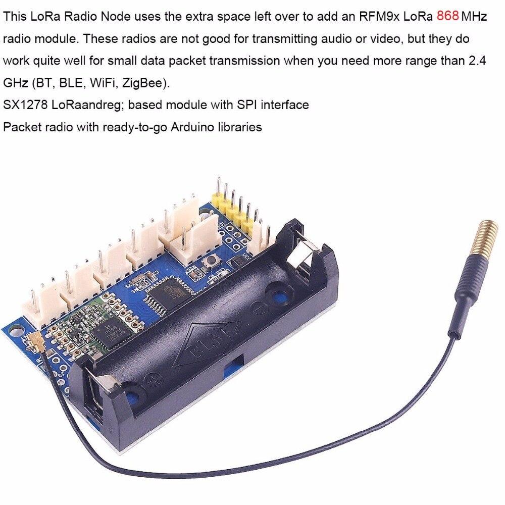 868mhz LoRa Radio Node V1 0 IOT Lora Module RFM95 SX1276 for Arduino  ATmega328P 3 7-12V uFL Antenna Internet of Things FZ3338