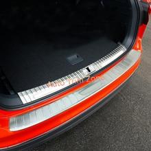 2 unids exterior y interior de acero trasero boot trunk proteger placa guardabarros para volkswagen tiguan 2017