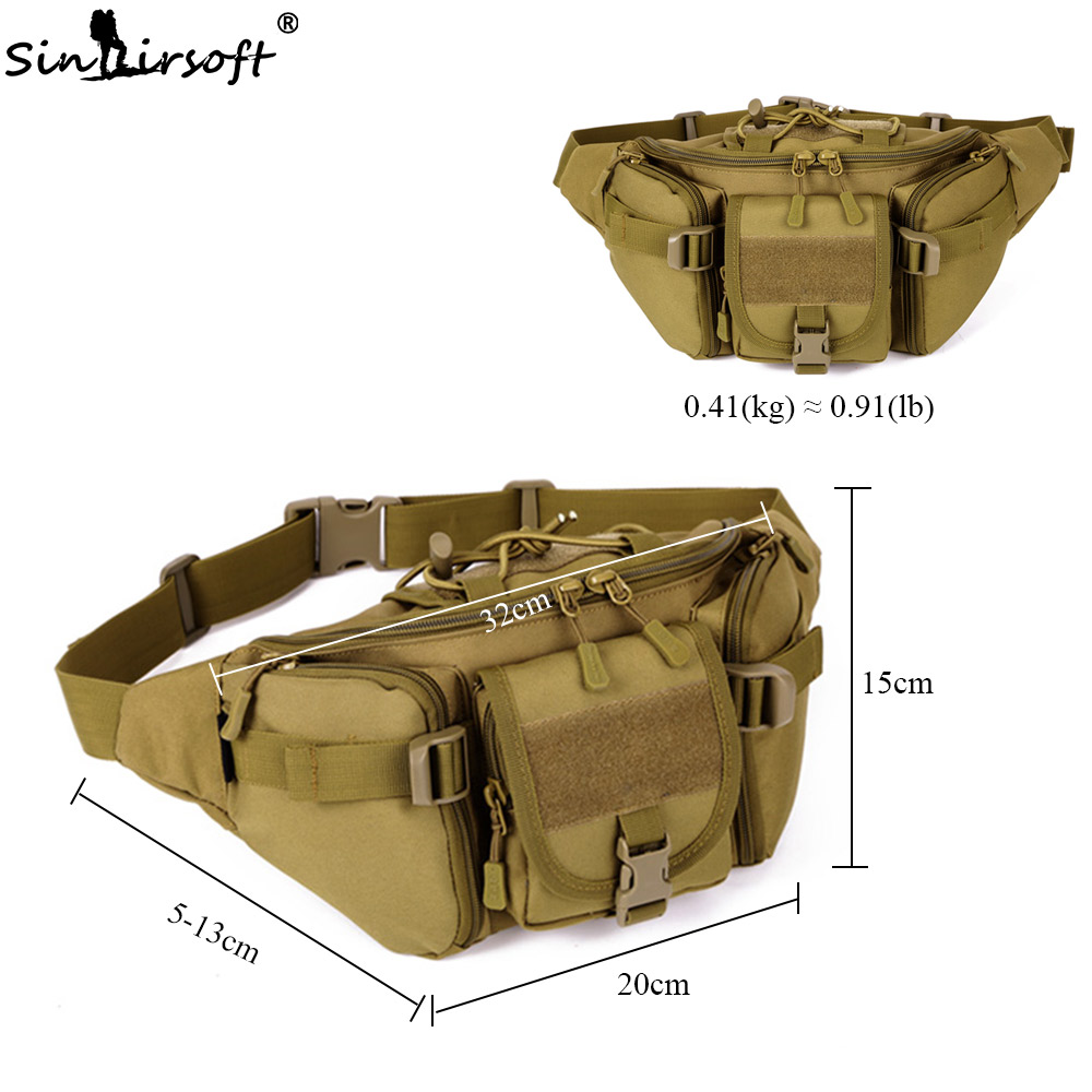 Picnic Bags Outdoor Militarytactic Bag Nylon Waterproof Waist Bag Camouflage Sports Bags For Camping Hiking Molle Tactic Shoulder Bag