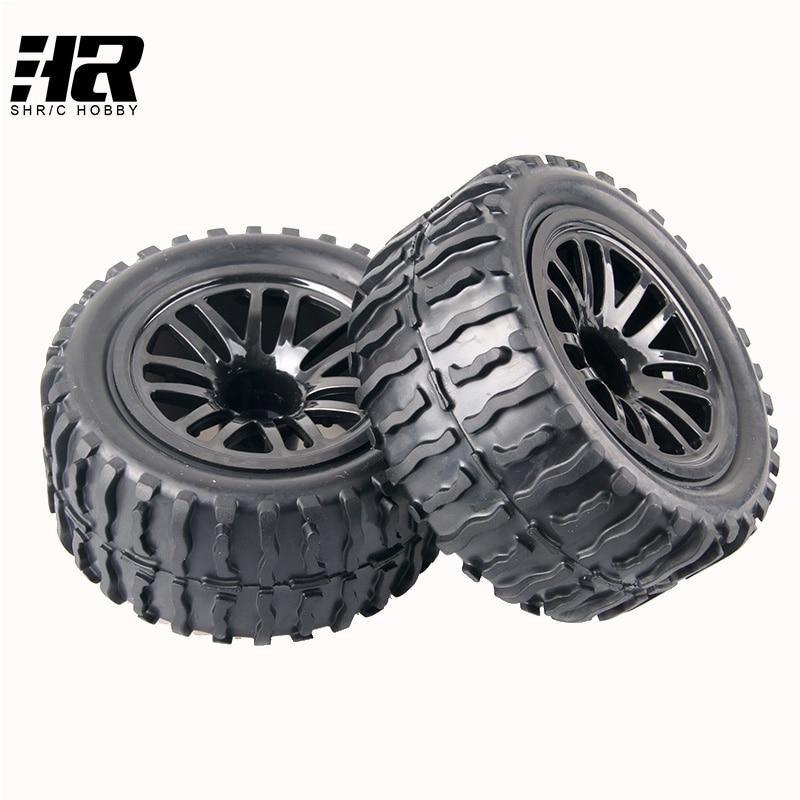 2PCS 12mm Racing Wheel Rim & Tires diameter 115mm width 55mm RC car HSP 1/10 big foot tyre truck tires 94111 94188 94108 HPI