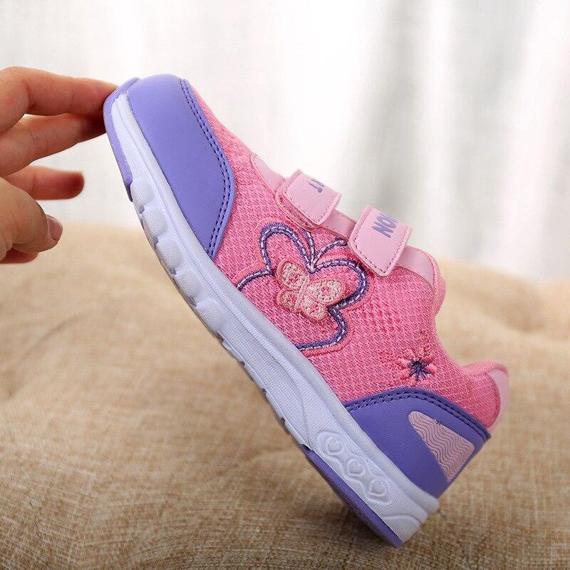576c4f6460d Meisjes Mode Sneakers Vlinder Borduurwerk Roze Rose Kids Sportschoenen  Ademend Mesh Schoenen Maat 27 37 School Schoeisel Prinses in Meisjes Mode  Sneakers ...