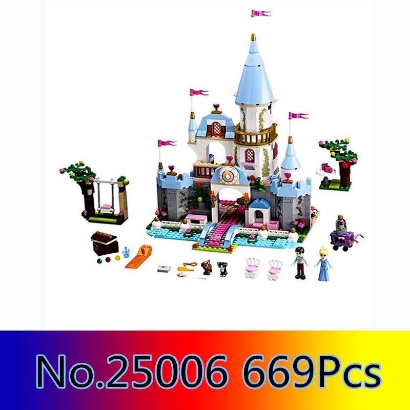 CX 25006 669Pcs Model building kits Compatible with Lego 41055 Cinderellas Romantic Castle 3D Bricks figure toys for children