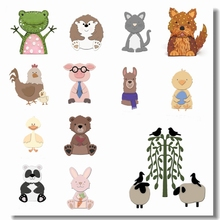Frog Duck Rabbit Pig Animal Metal Cutting Dies Scrapbooking DIY Card Album Making Embossing Template Handicraft New Die Cut 2019