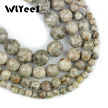 WLYeeS top quality Natural stone Maifanite Stone 4 6 8 10 mm Round Ball loose beads for Jewelry bracelet Necklace Making DIY 15