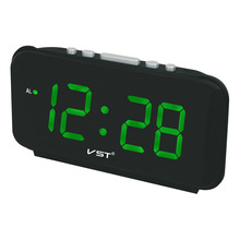 купить  2017 New Big numbers Digital Alarm Clocks EU Plug AC power Electronic Table Clocks With 1.8 Large LED Display home decor clock  онлайн