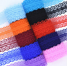 High quality 10 yards Lace Ribbon Tape Width 28MM Trim Fabric DIY Embroidered Net Cord For Sewing Decoration african lace fabric 10 meters lace ribbon tape 45mm wide trim fabric diy handicrafts embroidered net cord for sewing decoration african lace fabric