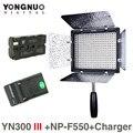 Yongnuo yn300 iii 5500 k cri95 llevó la luz de vídeo w np-f550 batería y cargador dslr cámara fotografía photo studio lighting lámpara