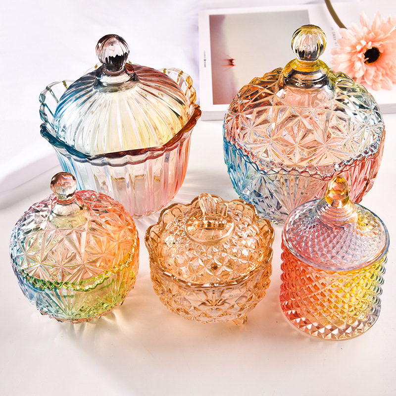 Nordic Vintage Crystal Storage Tank Creative Clear Glass Candy Tea