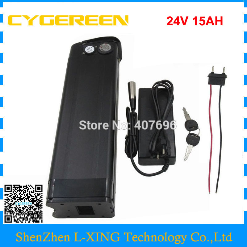 Rechargeable 250W 24V 15AH lithium battery 24 V battery 24V 7S 18650 EBIKE battery pack 15A BMS with USB Port 29.4V 2A Charger 24v 15ah battery pack lithium li ion 24v lithium bms electric bike battery 24v 500w e bike 15ah motor 24v 350w 2a charger
