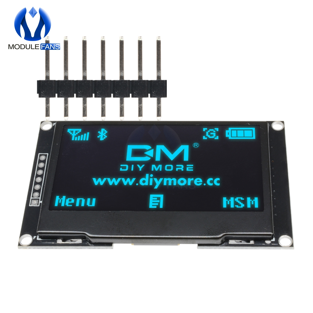 "Image 4 - BLUE 2.42"" Digital LCD Screen 12864 128X64 OLED Display Module C51 Board For Arduino SSD1309 STM32 Diy Electronic 2.42 inchLCD Modules   -"