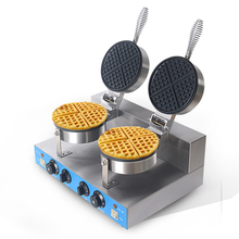цена на Commercial Double Head Waffle Maker Machine Electric Non-stick Waffle Grills Cake Oven Machine 220V EU Plug