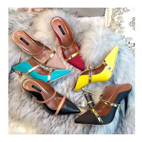 shaduo women silk genuine leather top quality Tip Stiletto High Heel Sexy woman Shoes