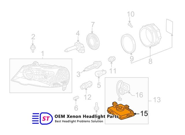 For ACURA TL TL Type S Factory OEM HID XENON - 2003 acura tl headlight