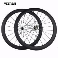 Powerful tubular road wheelset bicycle carbon wheels 50mm clincher 23mm wide velo aero carbon offering custom bike wheel decals