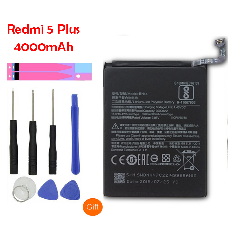 Tool Be Shrewd In Money Matters Cellphones & Telecommunications Mobile Phone Parts Original Bn44 Mobile Phone Battery For Xiaomi Redmi 5 Plus Real Capacity 4000mah Replacement Li-ion Battery