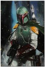 Living Room Decor Star Wars Movies Boba Armor Helmet Poster 27x40cm Wall Sticker