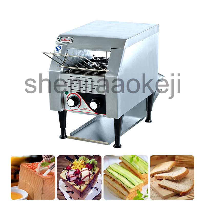 Commercial chain toaster commercial toaster crawler toaster toaster breakfast machine authentic Electric conveyor toster 1PC electric conveyor toaster ct 150 conveyor toaster oven 150 180 slices of bread 1hr