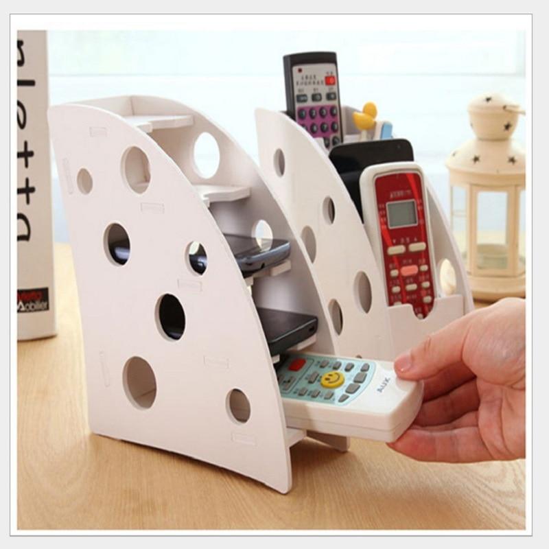 DIY Wood plastic plate Remote control storage holder Desktop Organizer Makeup storage rack for Mobile phone Penholder